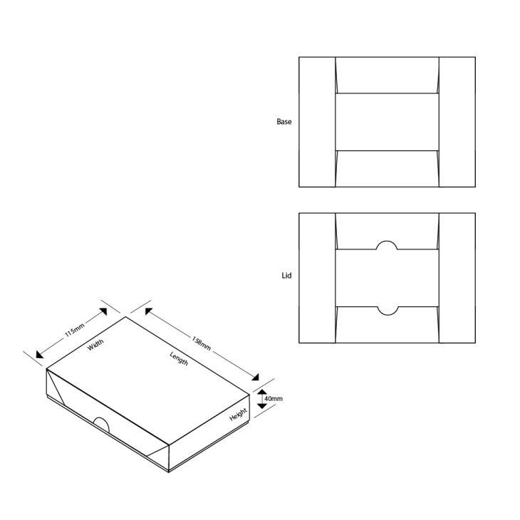 A6 Pop-Up Flat Pack Gift Box