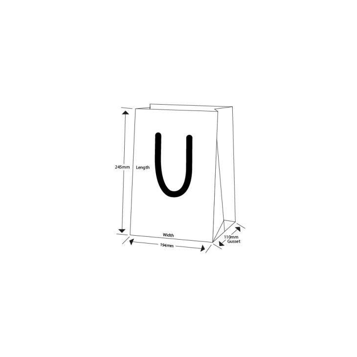Medium Luxury Matt Stripe Paper Gift Bag