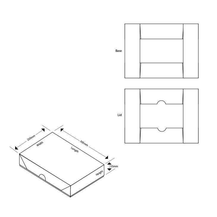 A4 Pop-Up Flat Pack Gift Box