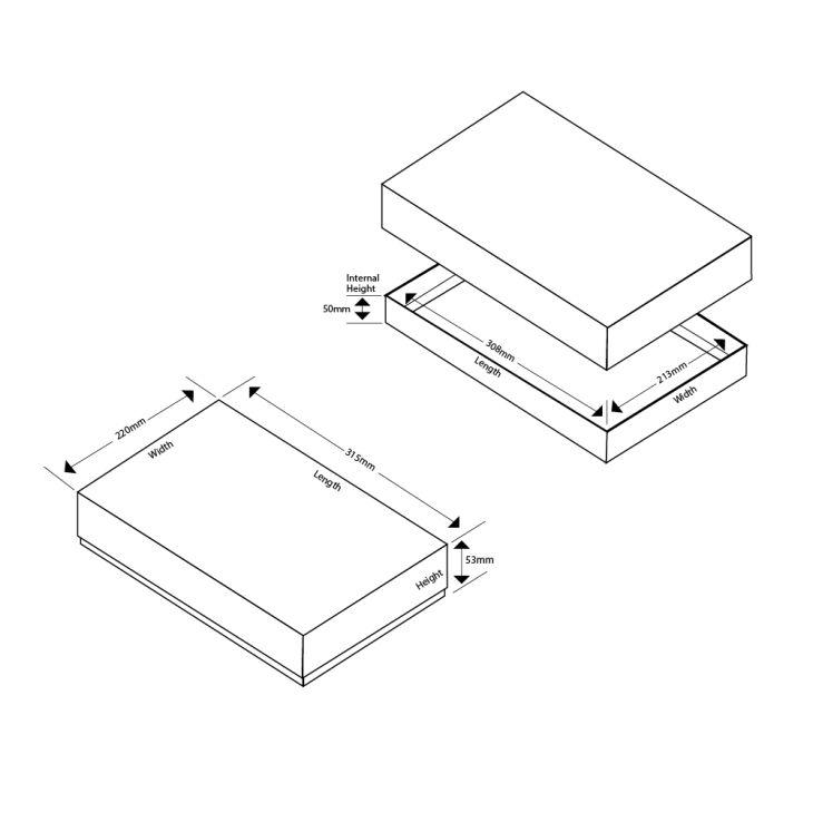 A4 Luxury Rigid Presentation Gift Box 53mm