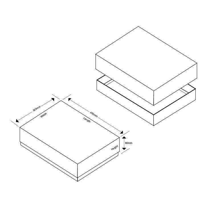 A3 Easy Fold Eco  Matt Laminated Self Assembly Gift Box